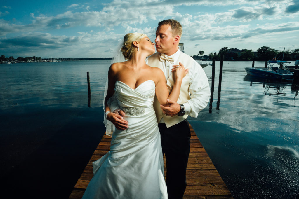 Middle River Wedding Bride and Groom WaterView
