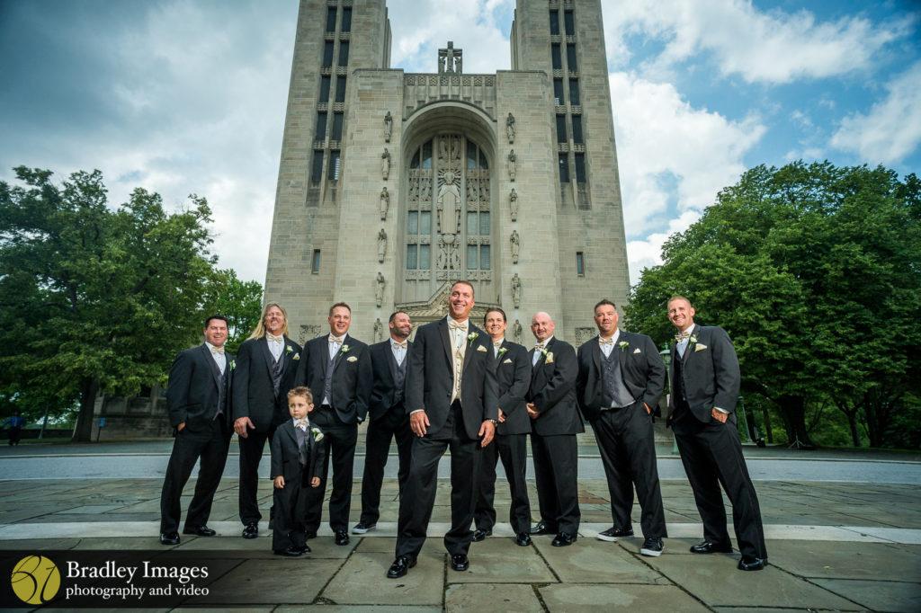 Middle River Wedding Groomsmen