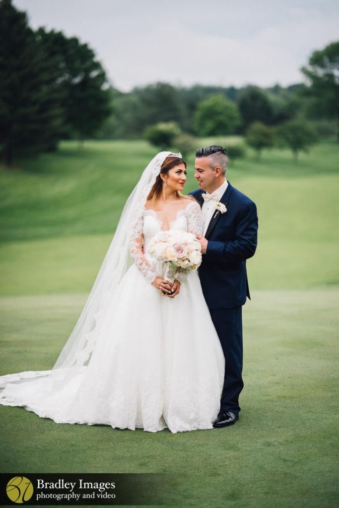 Woodholme Country Club Bride and Groom