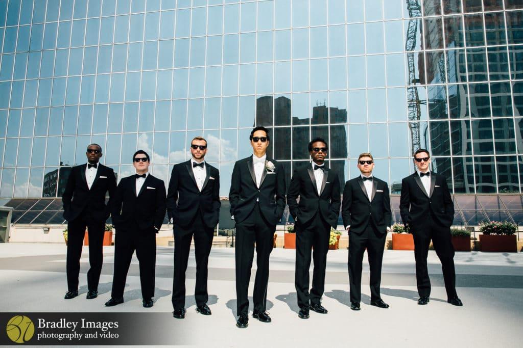 Hyatt Baltimore Wedding Groomsmen