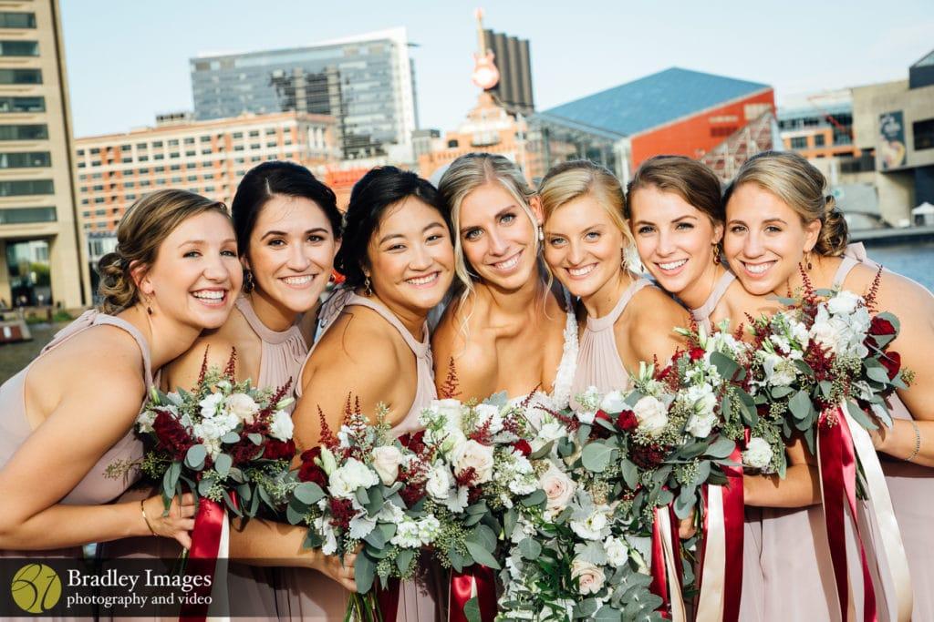 Hyatt Baltimore Wedding Bridal Party